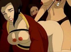Avatar hentai : Legend Of Lesbians gostosa peituda gozando