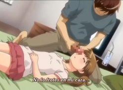 Hentai de incesto acordando a irmã com porra no rosto