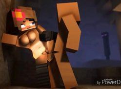 Minecraft porno peituda levando muita porra na xoxota